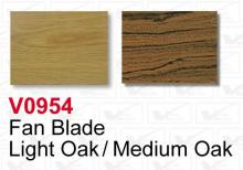 Volume Lighting V0954 - Replacement Ceiling Fan Blades set of 5 Light Oak / Medium Oak