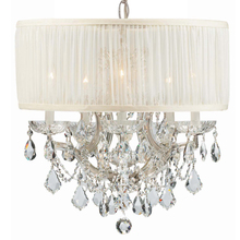 Crystorama 4415-CH-SAW-CLM - Crystorama Brentwood 6 Light Crystal Chrome Drum Shade Mini Chandelier I