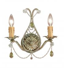 Crystorama 4712-GL - Crystorama Paris Market 2 Light Gold Leaf Sconce
