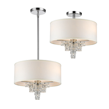 Crystorama 6833-CH - Crystorama Addison 3 Light Polished Chrome Mini Chandelier