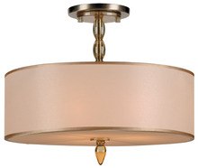 Crystorama 9505-AB - Crystorama Luxo 3 Light Brass Drum Shade Chandelier