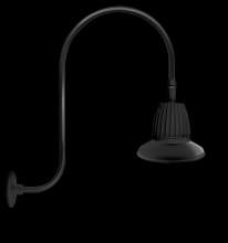 "RAB Lighting GN3LED13NRST11B - GOOSENECK UPCURVE 30"" HIGH, 25"" FROM WALL 13W NEUTRAL LED 11"" STRAIGHT SHADE RECTANGULAR"