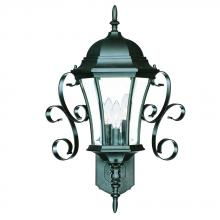 Acclaim Lighting 5424BK - New Orleans Collection Wall-Mount 3-Light Outdoor Matte Black Light Fixture