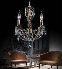 Crystal World 2038P14AB-3 - 3 Light Antique Brass Up Chandelier from our Brass collection