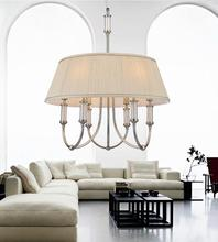 Crystal World 5105P22C-6 - 6 Light Chrome Drum Shade Chandelier from our Adore collection