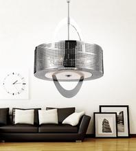 Crystal World 5317P16ST - 4 Light Chrome Drum Shade Chandelier from our Orbit collection