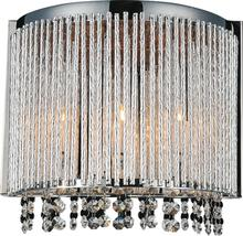 Crystal World 5535W12C-A - 3 Light Chrome Wall Light from our Claire collection