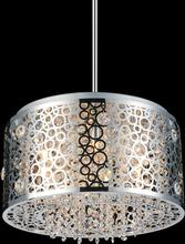Crystal World 5536P16ST - 6 Light Chrome Drum Shade Chandelier from our Bubbles collection