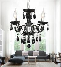 Crystal World 8269P14C-3 Black / Black - 3 Light Chrome Up Mini Pendant from our Princeton collection