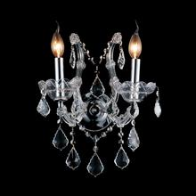 Crystal World 8397W12C-2(Clear) - 2 Light Chrome Wall Light from our Maria Theresa collection