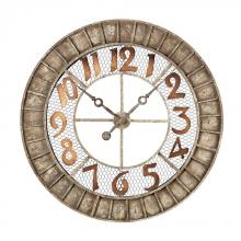 Sterling Industries 128-1001 - Round Metal Outdoor Wall Clock.