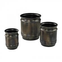 Sterling Industries 26-8669/S3 - Set Of 3 Oxidised Finish Planters