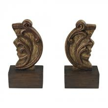 Sterling Industries 93-19294/S2 - Set Of 2 Reclaimed Artifact Bookends