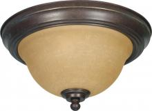 "Nuvo 60/1037 - Castillo 2 Light 11"" Flush Fixture"
