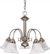 "Nuvo 60/3180 - Ballerina ES - 5 Light  24"" Chandelier w/ Alabaster Glass - 13w GU24 Lamps Incl"