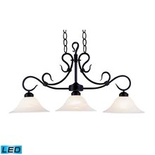 ELK Lighting 247-BK-LED - Buckingham 3 Light LED Island In Matte Black And