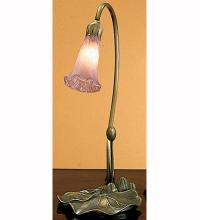 "Meyda Tiffany 12615 - 16""H Lavender Pond Lily Accent Lamp"