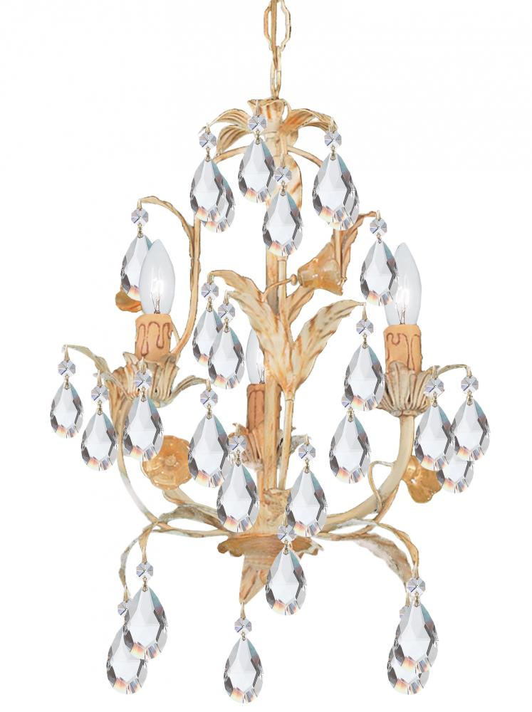 Coastal Lighting & Supply in Chesapeake, Virginia, United States,  238U2, Crystorama Athena 3 Light Champagne Mini Chandelier, Athena