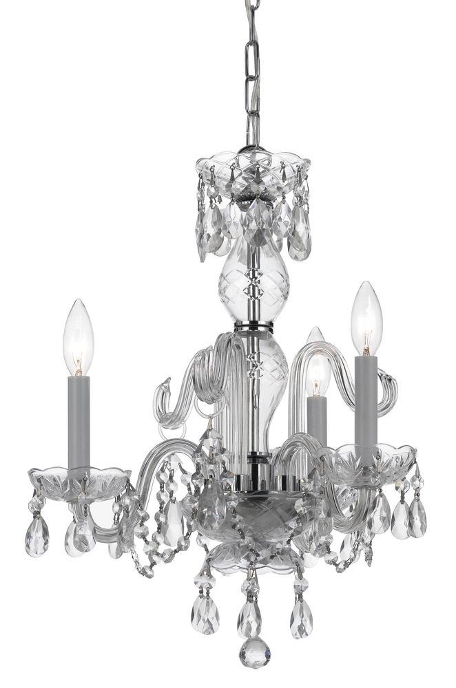 Coastal Lighting & Supply in Chesapeake, Virginia, United States,  2DPJC, Crystorama Traditional Crystal 3 Light Italian Crystal Chrome Mini Chandelier, Traditional Crystal