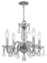 Crystorama 1064-CH-CL-I - Crystorama 4 Light Clear Italian Crystal Chrome Mini Chandelier I