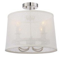 Crystorama 2294-PN_CEILING - Libby Langdon for Crystorama Culver 4 Lt Polished Nickel Ceiling Mount