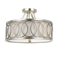 Crystorama 285-SA - Libby Langdon for Crystorama Graham 3 Lt Ant Silver Ceiling Mount