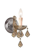 Crystorama 4471-AB-GT-MWP - Crystorama Maria Theresa 1 Light Golden Teak Crystal Brass Sconce I