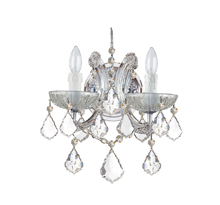 Crystorama 4472-CH-CL-I - Crystorama Maria Theresa 2 Light Clear Italian Crystal Chrome Sconce II