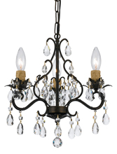 Crystorama 4534-EB - Crystorama Paris Market 3 Light Mini-Chandelier