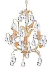 Crystorama 4903-CM - Crystorama Athena 3 Light Champagne Mini Chandelier