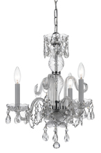 Crystorama 5044-CH-CL-I - Crystorama Traditional Crystal 3 Light Italian Crystal Chrome Mini Chandelier