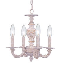 Crystorama 5124-AW - Crystorama Paris Market 4 Light Antique White Mini Chandelier