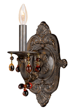 Crystorama 5201-VB-AMBER - Crystorama Paris Market 1 Light Amber Crystal Bronze Sconce