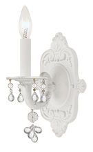 Crystorama 5201-WW-CLEAR - Crystorama Paris Market 1 Light Clear Crystal White Sconce