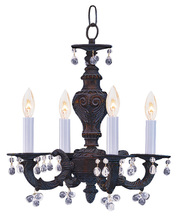 Crystorama 5224-VB-CLEAR - Crystorama Paris Market 4 Light Clear Crystal Drops Bronze Mini Chandelier
