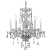 Crystorama 5295-CH-CL-MWP - Crystorama Traditional Crystal 5 Light Clear Crystal Chrome Mini Chandelier