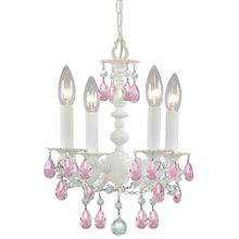 Crystorama 5514-WW-RO-MWP - Crystorama Paris Market 4 Light Rose Crystal White Mini Chandelier II