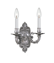Crystorama 642-PW - Crystorama 2 Light Pewter Cast Brass Wall Mount II