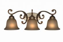 Crystorama 7523-DT - Crystorama Shelby 3 Light Distressed Twilight Sconce