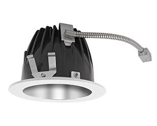 "FINISHING SEC 6"" ROUND 3000K LED 80 DEGREES SPECULAR CONE WHITE RING"