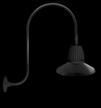 "RAB Lighting GN3LED13YSTB - GOOSENECK UPCURVE 30"" HIGH, 25"" FROM WALL 13W WARM LED 15"" STRAIGHT SHADE BLACK"