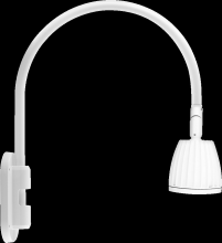 "RAB Lighting GN4LED26YRW - GOOSENECK WALL 20"" HIGH, 19"" FROM WALL 26W WARM LED NO SHADE RECTANGULAR REFLECTOR WHITE"
