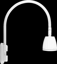 "RAB Lighting GN5LED26NRW - GOOSENECK POLE 20"" HIGH, 19"" FROM POLE 26W NEUTRAL LED NO SHADE RECTANGULAR REFLECTOR WHITE"