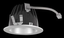 "RAB Lighting NDLED4R-80YY-M-S - FINISHING SEC 4"" ROUND 2700K LED 80 DEGREES MATTE CONE SILVER RING"
