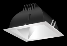 "RAB Lighting NDLED4S-50YY-M-S - FINISHING SC 4"" SQUARE 2700K LED 50 DEGREES MATTE CONE SILVER RING"