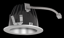 "RAB Lighting NDLED4R-80Y-S-S - FINISHING SEC 4"" ROUND 3000K LED 80 DEGREES SPECULAR CONE SILVER RING"