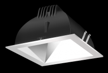 "RAB Lighting NDLED4S-50YY-S-S - FINISHING SC 4"" SQUARE 2700K LED 50 DEGREES SPECULAR CONE SILVER RING"
