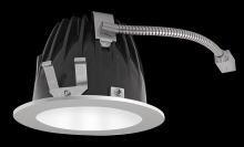 "RAB Lighting NDLED4R-80YY-W-S - FINISHING SEC 4"" ROUND 2700K LED 80 DEGREES WHITE CONE SILVER RING"