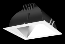 "RAB Lighting NDLED4S-WY-S-W - FINISHING SC 4"" SQUARE 3000K LED WALLWASH SPECULAR CONE WHITE RING"