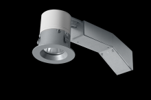 "RAB Lighting RDLED2R8-20YY-TS - REMODELER 2"" ROUND 8W 2700K DIMMABLE TRIAC 20 DEGREES 1/2"" TRIM SILVER RING"
